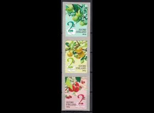 Finnland 2014 Michel Nr. 2293-95 Gartenobst: Birnen Äpfel und Süßkirschen