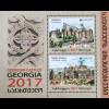 Georgien 2017 Neuheit Europaausgabe Burgen Schlösser Europacept Castles Block