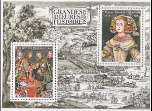 Frankreich France 2018 Block 393 Geschichtliche Ereignisse Pyrenäenvertrages