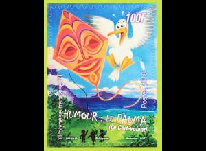 Polynesien französisch 2018 Nr 1378 Humor Cartoon Humor Le Pauma Papierdrache