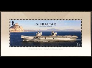 Gibraltar 2018 Block 131 HMS Queen Elizabeth Flugzeugträger Schiffsverkehr