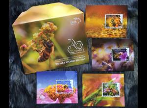 Griechenland Greece 2018 Neuheit Weltbienentag Tierschutz Honigbiene Block