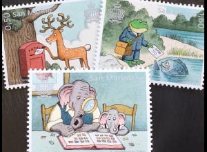 San Marino 2018 Nr. 2756-58 Spezielle Post Illustrationen für Kinder Frosch