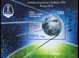 Serbien Serbia 2018 Block 18 Fußballweltmeisterschaft in Russland Ballsport
