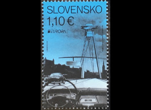 Slowakei Slovakia 2018 Neuheit Europaausgabe Brückenmotiv Europacept