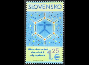 Slowakei Slovakia 2018 Michel Nr. 848 50 Jahre Internationale Chemieolympiade