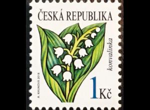 Tschechische Republik 2018 Nr. 985 Freimarke Blumen Maiglöckchen Flora