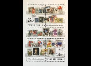 Tschechische Republik 2018 Block 69 100 Jahre tschechoslowakische Briefmarken