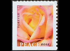 USA Amerika 2018 MIchel Nr. 5481 Freimarke Rose Blumen Flora Rosenmotiv