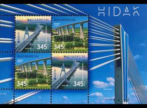 Ungarn Hungary 2018 Block 410 Europa Brücken Europaceptausgabe Bridges Ponte