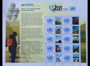 Vereinte Nationen UNO Wien 2018 Neuheit Welttag gegen Menschenhandel Blue Heart