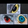 Liechtenstein 2018 Neuheit Künstlerische Fotografie Vogelaugen heimischer Arten