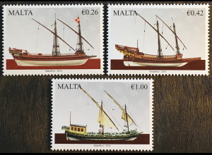 Malta 2018 Michel Nr 2005-07 Maritimes Malta Schiffe Souveränen Malteserordens