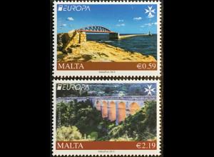 Malta 2018 Nr. 2006-07 Europaausgabe Europacept Brückenmotive Seebrücken
