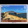 Malta 2018 Nr. 2006-07 Europaausgabe Europacept Brückenmotive Seebrücken aus MH