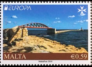 Malta 2018 Nr. 2006 Europaausgabe Europacept Brückenmotive Seebrücken aus MH