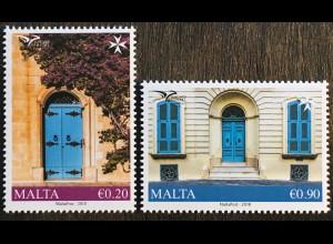 Malta 2018 Nr. 2012-13 Euromed Postal Traditionelle Häuser Architektur
