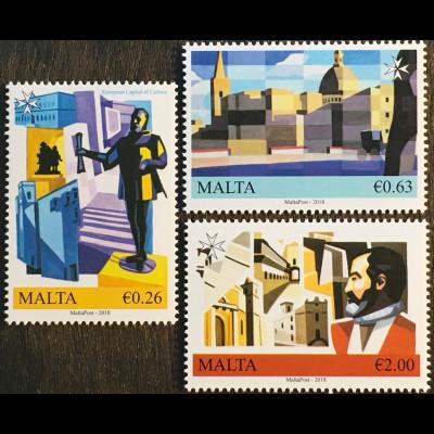 Malta 2018 Nr. 2008-10 Valetta European Captial of Culture Hauptstadt Kultur