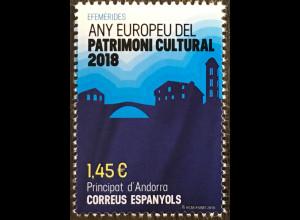 Andorra spanisch 2018 Nr. 470 Europäisches Jahr des Kulturerbes Sharing Heritage