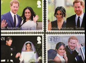 Britische Antarktis BAT 2018 Block 27 Hochzeit Prinz Harry und Meghan Markle