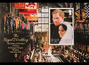 Britische Antarktis BAT 2018 Nr. 776-79 Hochzeit Prinz Harry und Meghan Markle