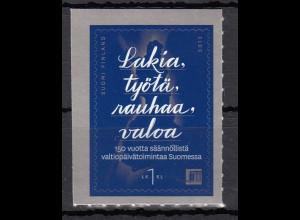 Finnland 2013 Michel Nr. 2267 selbstklebend 150 Jahre Parlament