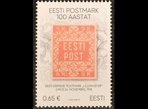 Estland EESTI 2018 Nr. 924 100 Jahre estnische Briefmarken Philatelie Briefmarke