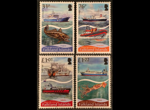 Falkland Inseln 2018 Neuheit 30 Jahre Fischerei Angelsport Hochseefischerei