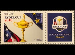Frankreich France 2018 Nr. 7067 Golf-Turnier Ryder Cup zwischen USA und Europa