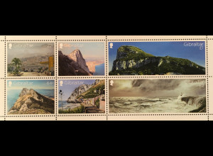 Gibraltar 2018 Block 133 Alte Ansichten Gibraltars Natur Tourismus Küste Block