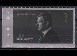 Finnland 2013 Michel Nr. 2248 selbstklebend 65.Geburtstag von Sauli Niinistö