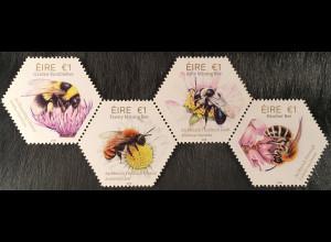 Irland 2018 Nr. 2264-67 Fauna und Flora Einheimische Bienen Wabenförmige Marken