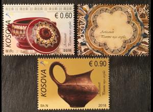 Kosovo 2018 Nr. 429-31 Keramiken Antiquitäten Ausgrabungen Handwerk