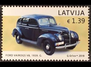 Lettland Latvia 2018 Nr. 1051 Lettischer Automobilbau Oldtimer Historische Autos