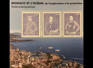 Monako Monaco 2018 Block 127 Monaco und der Ozean Erforschung Umweltschutz