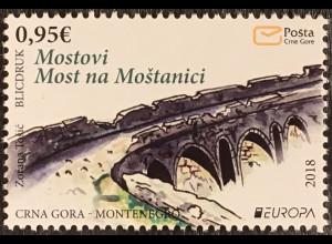Montenegro 2018 Michel Nr. 419 Europaausgabe Brückenmotiv Europacept