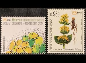 Montenegro 2018 Michel Nr. 417-18 Flora Blumen Natur