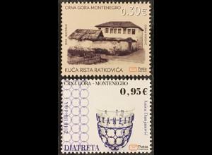 Montenegro 2018 Nr. 422-23 Historisches Erbe Haus und Gefäß