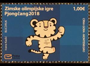 Montenegro 2018 Michel Nr. 421 Olympische Winterspiele Pyeongchang Olympiade