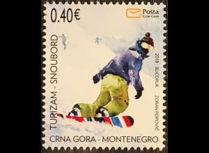 Montenegro 2018 Nr. 416 Snowboard Tourismus Wintersport