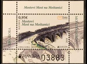 Montenegro 2018 Block 22 Europaausgabe Brückenmotiv Europacept