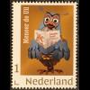 Niederlande 2018 Neuheit Personalisierte Marke mit lustigem Eulenmotiv