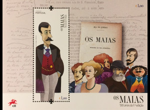 Portugal 2018 Block 435 Romans Os Maias von José Maria de Eça de Queirós