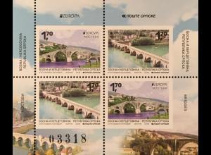 Bosnien Herzegowina Serbische Republik 2018 Neuheit Europaausgabe Brücken Bridge