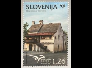 Slowenien Slovenia 2018 Neuheit Euromedausgabe Häuser des Mittelmeeres Architekt