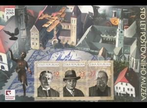 Tschechische Republik 2018 Block 71 Briefmarkenausstellung 100 Jahre Postmuseum
