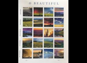 USA Amerika 2018 MIchel Nr 5498-5517 Landschaftsansichten Lied America Beautiful