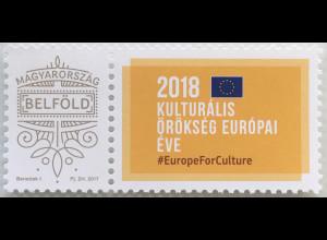 Ungarn Hungary 2018 Neuheit Personalisierte Marke Kulturerbe