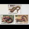 Weißrussland Belarus 2018 Nr. 1264-66 Reptilien Eidechsen Fauna Wirbeltiere