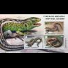 Weißrussland Belarus 2018 Block 167 Reptilien Eidechsen Fauna Wirbeltiere